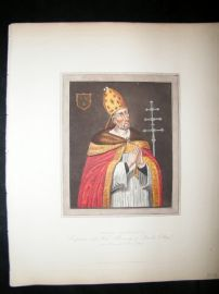 Ackermann History of Oxford 1815 Hand Col Portrait. Thomas Rotherham